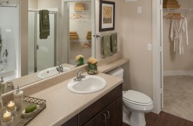 multifamily apartment community interior unit bathroom