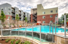 Mixed-use multifamily apartment building pool