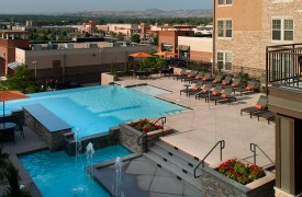multifamily apartment community pool deck