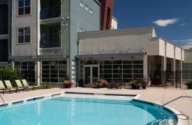 Mutifamily Urban community pool