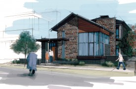 single family home rendering