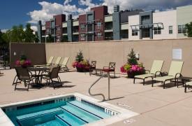 Mutifamily Urban community pool deck