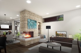 single family home living space rendering