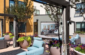 Mixed-Use Infill apartment community courtyard