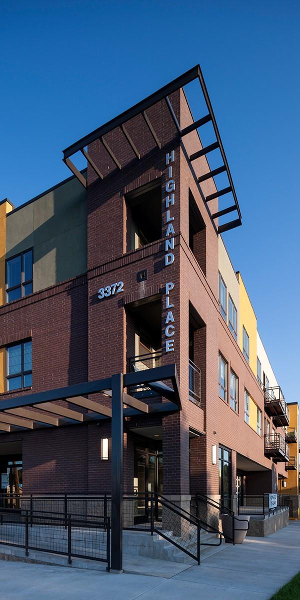 Mixed-Use Infill apartment community exterior