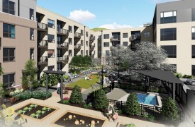 Multifamily Community Rendering
