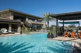 Pool at the multifamily apartment The Flats at San Tan in Phoenix, Arizona