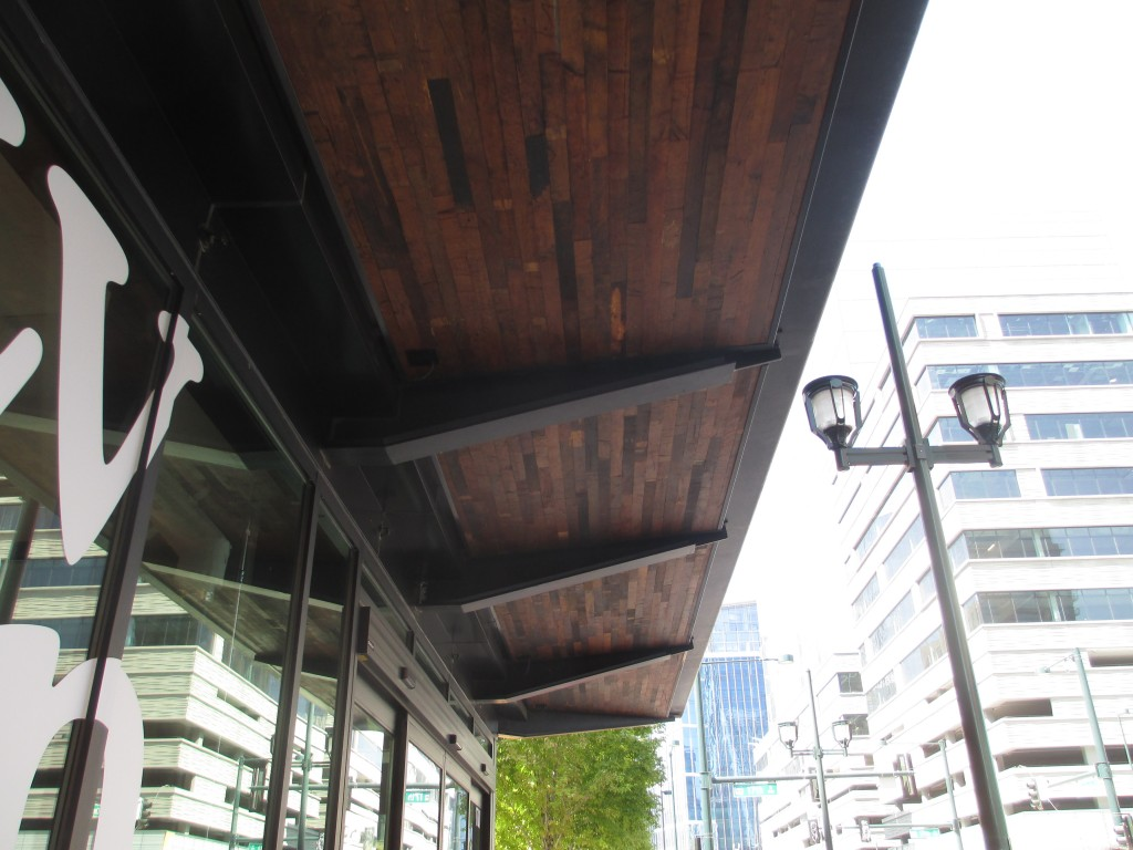 Exterior wood canopy